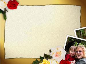 Flowers background PPT lace material download
