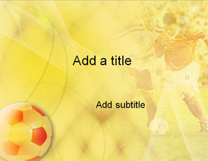 Football yellow background