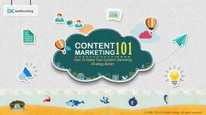 Foreign cartoon style content marketing PPT download