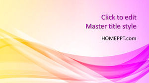 Free Abstract Background PowerPoint Template with Curves