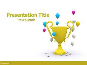 Iklan Templat Powerpoint Cup Kemenangan Gratis Powerpoint Template Free Download