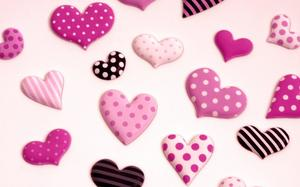 Full of love pink chocolate PPT background picture