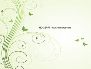 General small fresh color vector wreath flowers spring business report ppt material download