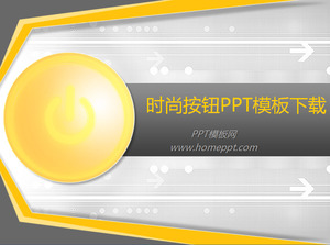 Golden Fashion Button Background PPT Template Free Download,