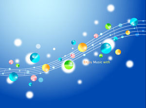 Gorgeous music footwork art PPT background picture