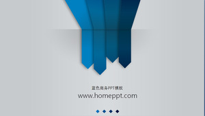 Gray background blue arrow business PowerPoint template download