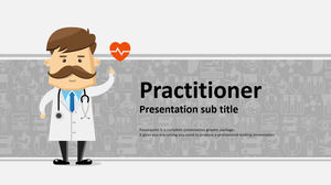 Gray Cartoon Doctor Background Medical Hospital PPT Template Free Download