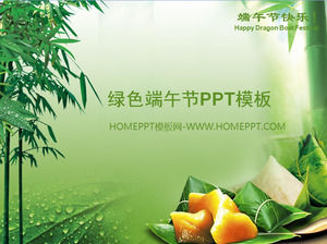 Green Background Dragon Boat Festival PPT Template