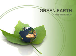 Green earth ppt slide design
