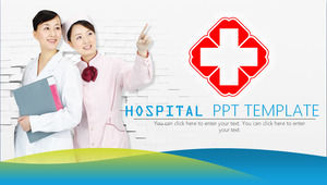 Green Micro Stereo Hospital PPT Template Download