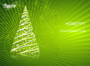 Green Pattern Background Christmas Ppt Template Download Powerpoint
