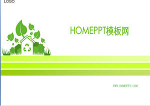 Green PPT template download