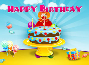 Happy Birthday PPT template download