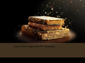 Harry Potter's magic book PPT Templates