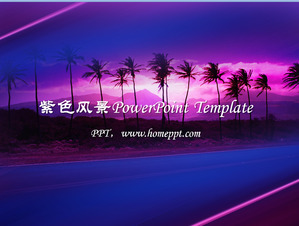 Hawaii Nature Landscape PowerPoint Template Download