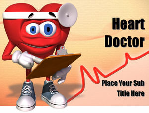 heart doctor PPT template