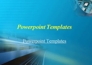 High-speed trains Powerpoint Templates