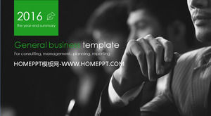 Highly dynamic and simple business work report PPT template