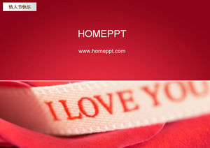 I LOVE YOU Valentine 's Day PPT Template Download