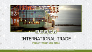 International trade logistics situation data work report ppt template