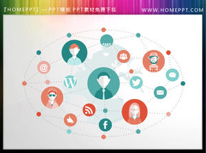 Internet social graphs PowerPoint material download