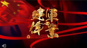 Festival de Jianjun 91º Aniversário Template PPT
