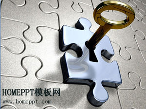 puzzle art PPT template download