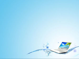 Laptop background technology PPT background picture