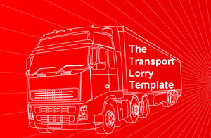 Large trucks Powerpoint Templates