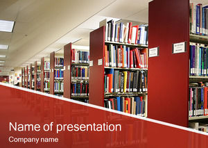 Library with ppt template