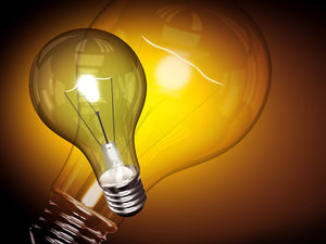 Light bulb PowerPoint background image