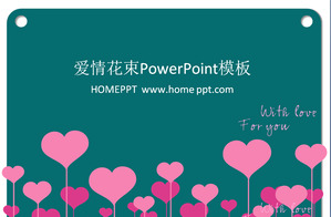 Love bouquet PPT template download