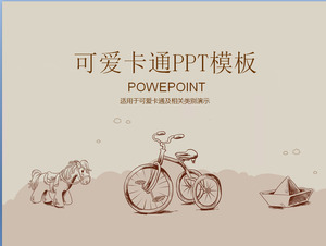 Lovely Trojan Bicycle Cartoon PowerPoint Template Download