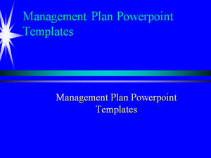 Management Plan Powerpoint Templates