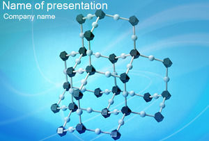 Medical dimensional molecular structure Powerpoint Templates