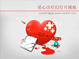 Medical treatment of background medical treatment of PowerPoint templates
