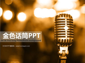 Metal Microphone PowerPoint Background Template Download