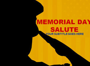 Military salute Powerpoint Templates