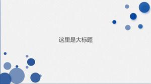 Minimal wafer line blue flat wind general report class ppt template