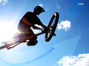 Mountain bike extreme sports ppt template