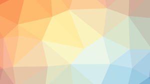 Orange blue and white polygon PPT background image