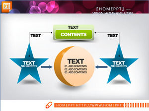 Orange green blue composition of the PowerPoint chart template package download