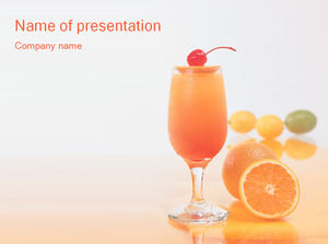 Orange juice drink ppt template