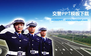 People Traffic Police PowerPoint Template Download