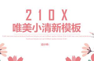 Pink Fresh Art Flower Background Powerpoint Templates Free Download