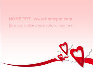 Pink love background romantic love PPT template download