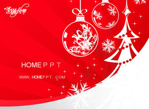 Pretty Christmas PPT template download