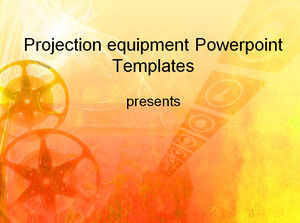Projection equipment Powerpoint Templates