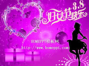 Purple Women's Day Slideshow template download