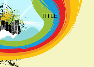 Rainbow color powerpoint templates free download free ppt template free ppt backgroundrainbow color range is the color of rich fruit flowers and the sun tellow is the happiness color of the sun and toneelgroepblik Image collections